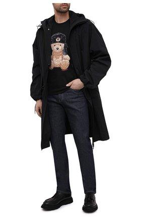 Мужской кожаные дерби CAMERLENGO черного цвета, арт. Z15646T0SNE732 | Фото 2