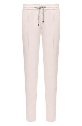 Мужской хлопковые брюки BRUNELLO CUCINELLI белого цвета, арт. M279DE1740 | Фото 1