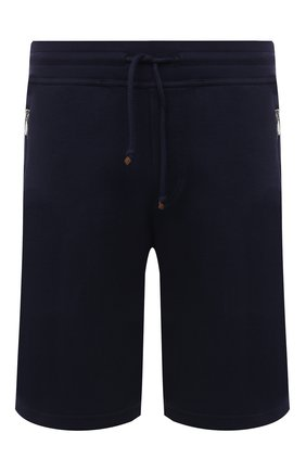 Мужские хлопковые шорты BRUNELLO CUCINELLI синего цвета, арт. M0T353277G | Фото 1