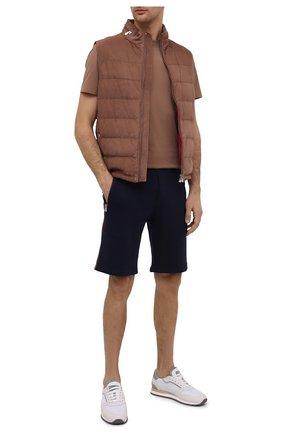 Мужские хлопковые шорты BRUNELLO CUCINELLI синего цвета, арт. M0T353277G | Фото 2