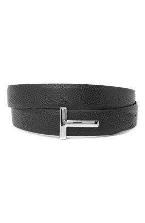 Мужской кожаный ремень TOM FORD черного цвета, арт. TB224P-LCL050 | Фото 1