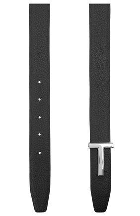Мужской кожаный ремень TOM FORD черного цвета, арт. TB224P-LCL050 | Фото 2