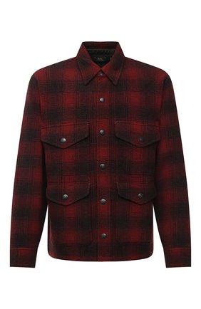 Мужская шерстяная куртка RRL красного цвета, арт. 782804605 | Фото 1