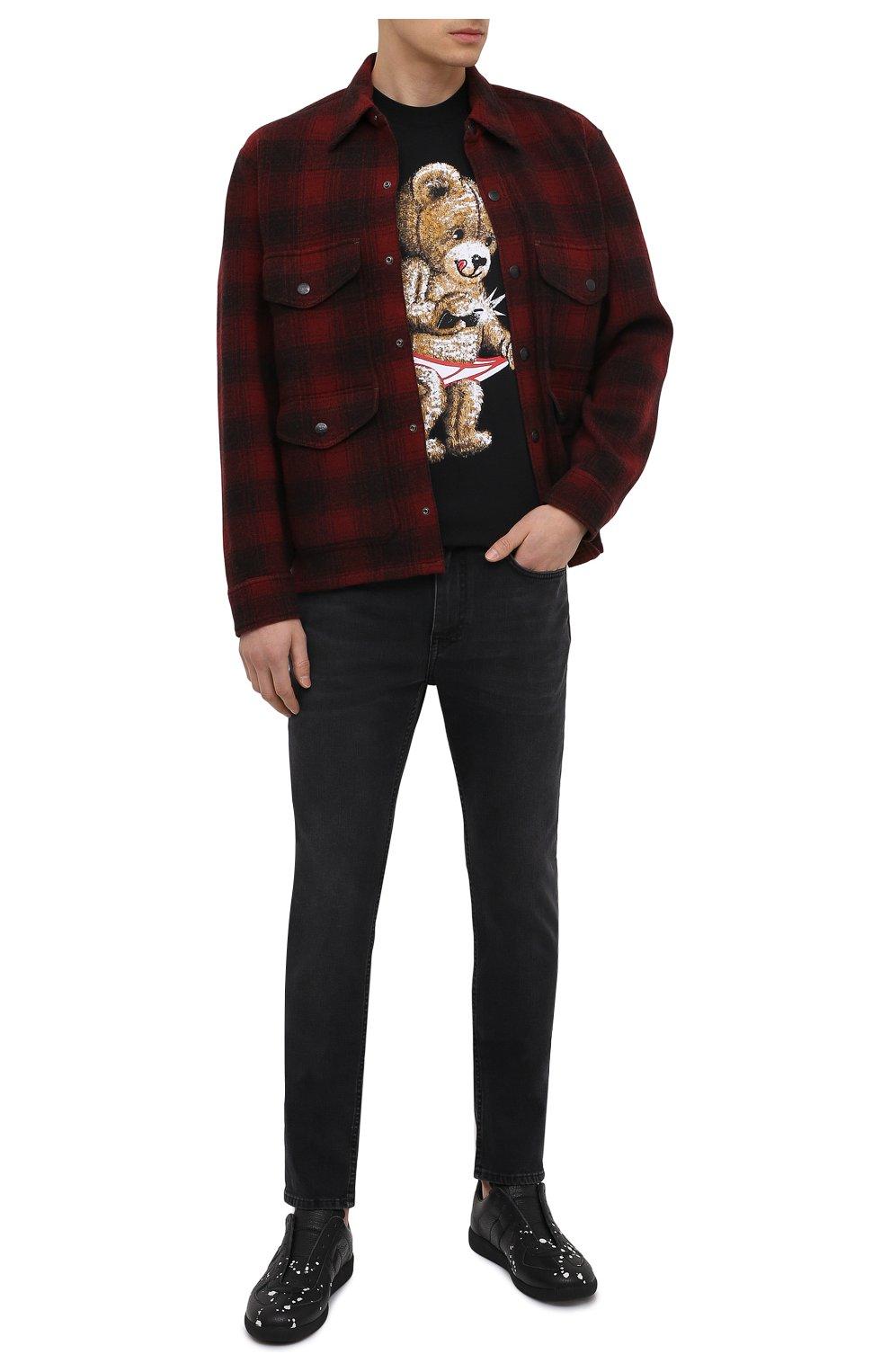Мужская шерстяная куртка RRL красного цвета, арт. 782804605   Фото 2 (Кросс-КТ: Куртка; Мужское Кросс-КТ: шерсть и кашемир; Материал внешний: Шерсть; Рукава: Длинные; Длина (верхняя одежда): Короткие; Стили: Кэжуэл)