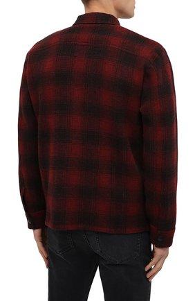 Мужская шерстяная куртка RRL красного цвета, арт. 782804605   Фото 4 (Кросс-КТ: Куртка; Мужское Кросс-КТ: шерсть и кашемир; Материал внешний: Шерсть; Рукава: Длинные; Длина (верхняя одежда): Короткие; Стили: Кэжуэл)