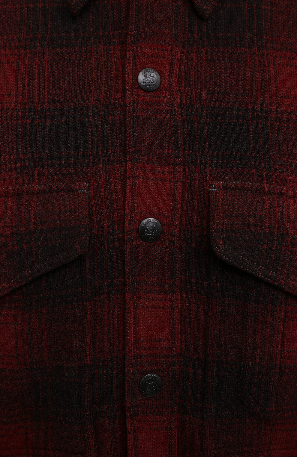 Мужская шерстяная куртка RRL красного цвета, арт. 782804605   Фото 5 (Кросс-КТ: Куртка; Мужское Кросс-КТ: шерсть и кашемир; Материал внешний: Шерсть; Рукава: Длинные; Длина (верхняя одежда): Короткие; Стили: Кэжуэл)