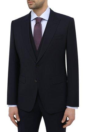 Мужской шерстяной костюм-тройка BOSS темно-синего цвета, арт. 50444065 | Фото 2