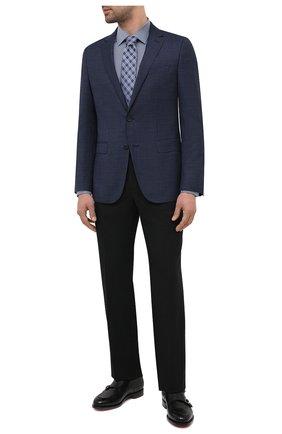 Мужская хлопковая сорочка BOSS темно-синего цвета, арт. 50445380 | Фото 2
