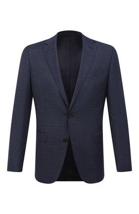 Мужской шерстяной пиджак BOSS темно-синего цвета, арт. 50444123   Фото 1