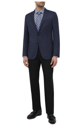 Мужской шерстяной пиджак BOSS темно-синего цвета, арт. 50444123   Фото 2