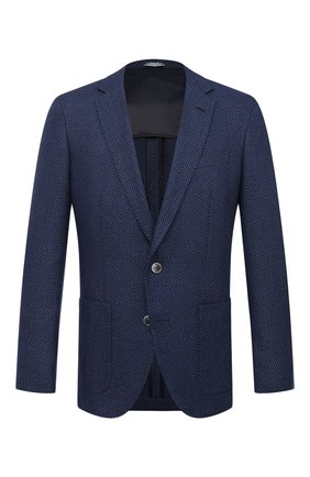 Мужской пиджак BOSS темно-синего цвета, арт. 50444127   Фото 1