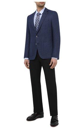 Мужской пиджак BOSS темно-синего цвета, арт. 50444127   Фото 2