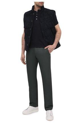 Мужской брюки ZILLI SPORT хаки цвета, арт. MBU-ZS812-PASE0/0001 | Фото 2