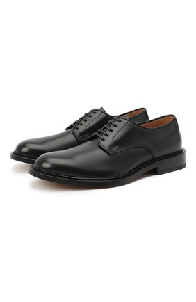 Мужские кожаные дерби BOTTEGA VENETA черного цвета, арт. 651315/V00H0 | Фото 1 (Стили: Классический; Материал внутренний: Натуральная кожа; Материал внешний: Кожа)