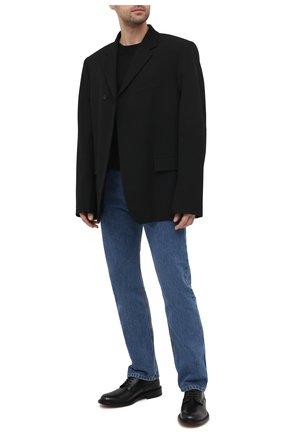 Мужские кожаные дерби BOTTEGA VENETA черного цвета, арт. 651315/V00H0 | Фото 2 (Стили: Классический; Материал внутренний: Натуральная кожа; Материал внешний: Кожа)