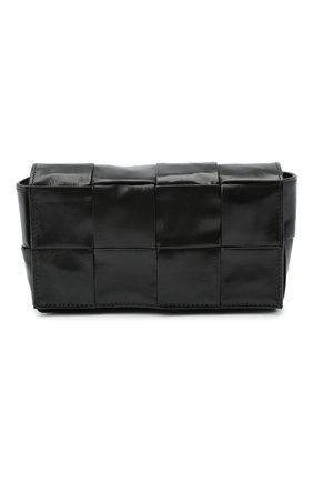 Мужская кожаная поясная сумка BOTTEGA VENETA черного цвета, арт. 651053/VCQ72 | Фото 1
