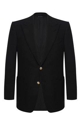 Мужской пиджак TOM FORD черного цвета, арт. 950R28/11HA40 | Фото 1
