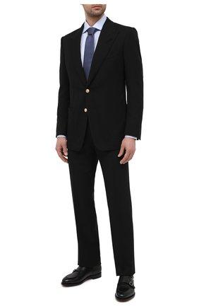 Мужской пиджак TOM FORD черного цвета, арт. 950R28/11HA40 | Фото 2