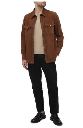 Мужские хлопковые брюки-карго TOM FORD черного цвета, арт. BW141/TFP223 | Фото 2 (Силуэт М (брюки): Карго; Длина (брюки, джинсы): Стандартные; Случай: Повседневный; Материал внешний: Хлопок; Стили: Кэжуэл)
