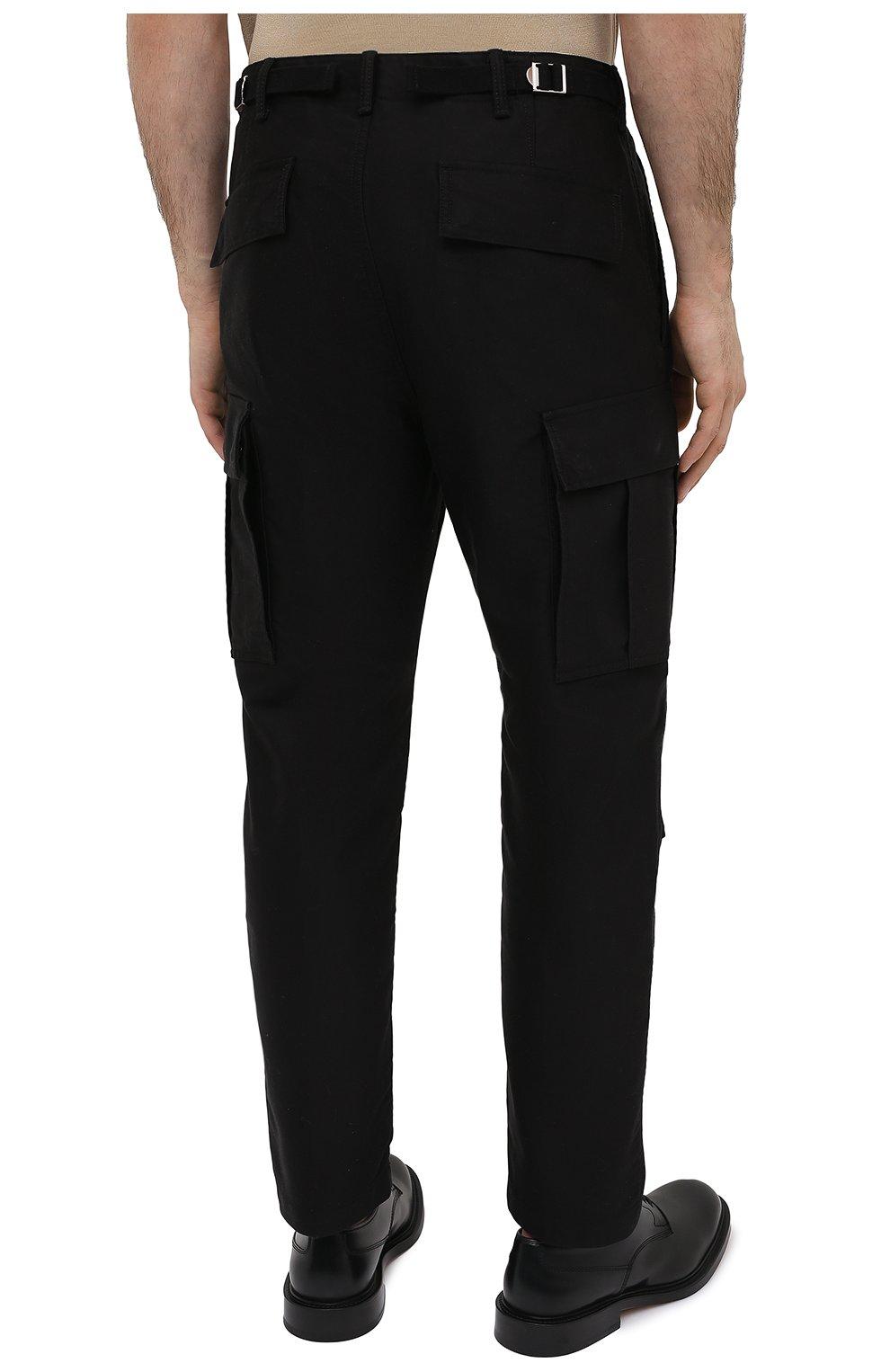 Мужские хлопковые брюки-карго TOM FORD черного цвета, арт. BW141/TFP223 | Фото 4 (Силуэт М (брюки): Карго; Длина (брюки, джинсы): Стандартные; Случай: Повседневный; Материал внешний: Хлопок; Стили: Кэжуэл)