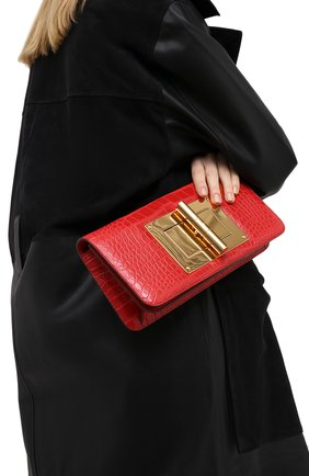 Женская сумка natalia из кожи крокодила TOM FORD бордового цвета, арт. LL282T/CSY | Фото 2