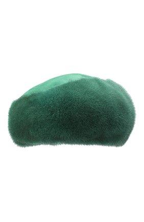 Женский берет из меха норки милари FURLAND зеленого цвета, арт. 0123200140198600136 | Фото 1