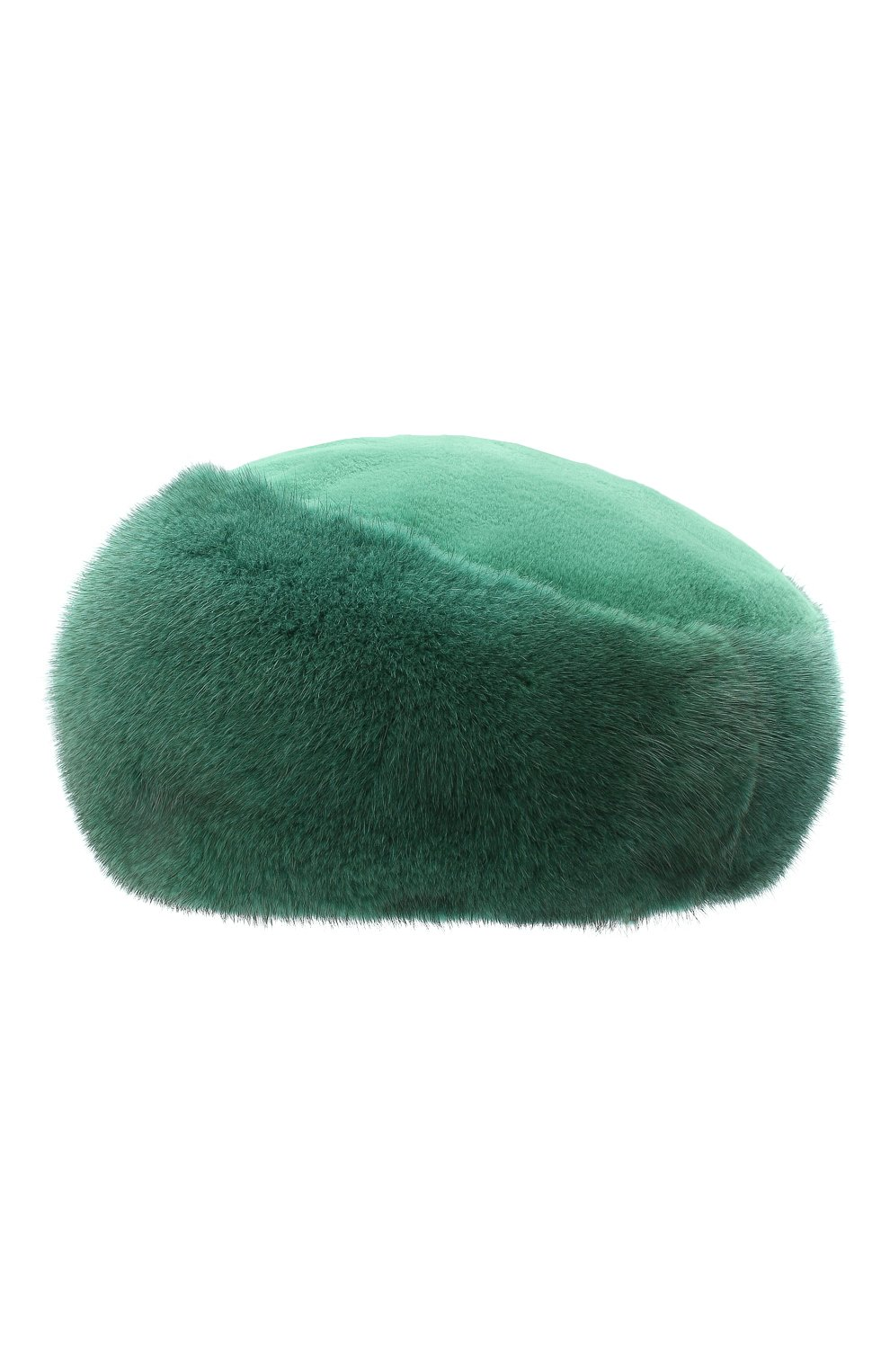 Женский берет из меха норки милари FURLAND зеленого цвета, арт. 0123200140198600136 | Фото 2