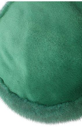 Женский берет из меха норки милари FURLAND зеленого цвета, арт. 0123200140198600136 | Фото 3