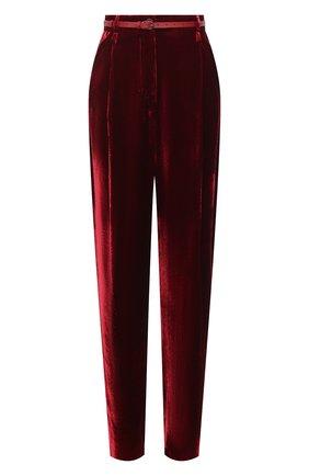Женские брюки из вискозы и шелка GIORGIO ARMANI красного цвета, арт. 0WHPP0DL/T01I7 | Фото 1