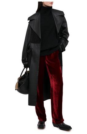 Женские брюки из вискозы и шелка GIORGIO ARMANI красного цвета, арт. 0WHPP0DL/T01I7 | Фото 2