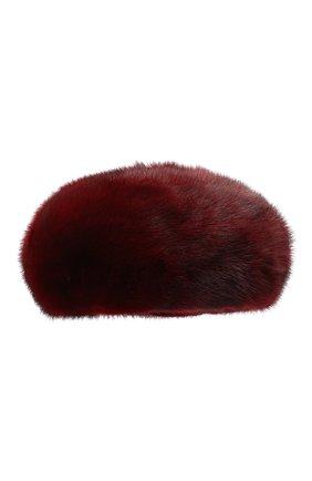 Женский берет из меха норки FURLAND бордового цвета, арт. 0096100110209600576 | Фото 1