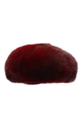 Женский берет из меха норки FURLAND бордового цвета, арт. 0096100110209600576 | Фото 2