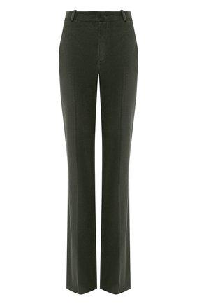 Женские хлопковые брюки LORO PIANA хаки цвета, арт. FAL4100 | Фото 1