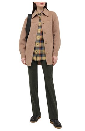 Женские хлопковые брюки LORO PIANA хаки цвета, арт. FAL4100 | Фото 2