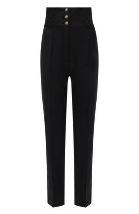 Женские шерстяные брюки DOLCE & GABBANA черного цвета, арт. FTBN3T/FUBEC | Фото 1