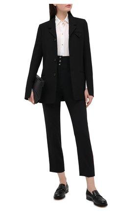 Женские шерстяные брюки DOLCE & GABBANA черного цвета, арт. FTBN3T/FUBEC | Фото 2