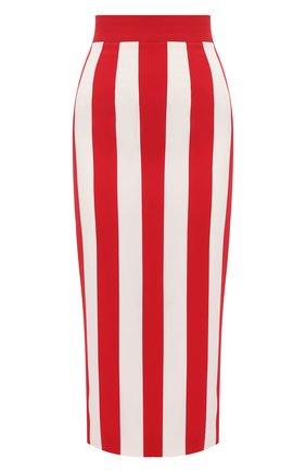 Женская юбка из вискозы DOLCE & GABBANA красного цвета, арт. F4BWHT/FSRMG | Фото 1