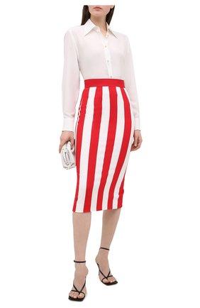 Женская юбка из вискозы DOLCE & GABBANA красного цвета, арт. F4BWHT/FSRMG | Фото 2
