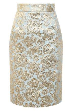 Женская юбка DOLCE & GABBANA голубого цвета, арт. F4BU8T/HJMLB | Фото 1