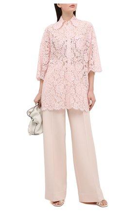 Женская блузка DOLCE & GABBANA светло-розового цвета, арт. F5N68T/HLMEA | Фото 2