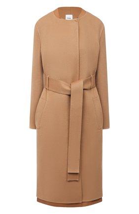 Женское кашемировое пальто BURBERRY бежевого цвета, арт. 4566080 | Фото 1