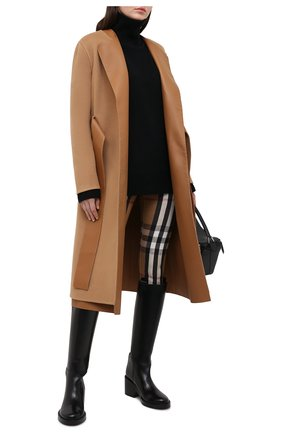 Женское кашемировое пальто BURBERRY бежевого цвета, арт. 4566080 | Фото 2