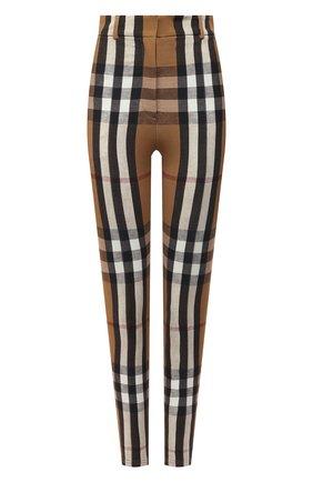 Женские брюки из вискозы и шелка BURBERRY коричневого цвета, арт. 4566766 | Фото 1