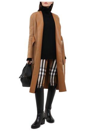 Женские брюки из вискозы и шелка BURBERRY коричневого цвета, арт. 4566766 | Фото 2
