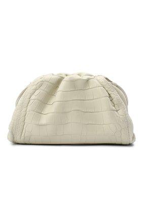 Женский клатч pouch 20 из кожи аллигатора BOTTEGA VENETA белого цвета, арт. 585852/VCPX1/AMIS | Фото 1