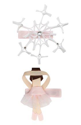 Комплект заколок Балерина и снежинка | Фото №1