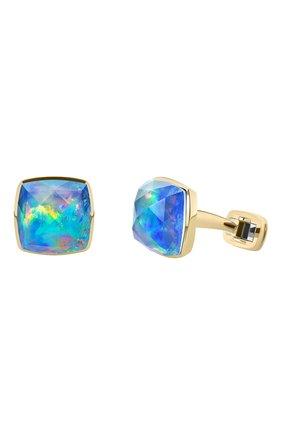 Женские запонки MERCURY бесцветного цвета, арт. 97176 OYG | Фото 1 (Материал сплава: Желтое золото; Драгоценные камни: Другие)