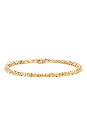 Женский браслет MERCURY бесцветного цвета, арт. MB23817/YG/1RAD0.17 | Фото 1 (Материал сплава: Желтое золото; Драгоценные камни: Бриллианты)