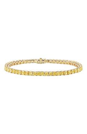 Женский браслет MERCURY бесцветного цвета, арт. MB23817/YG/1RAD0.25 | Фото 1 (Материал сплава: Желтое золото; Драгоценные камни: Бриллианты)