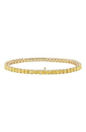 Женский браслет MERCURY бесцветного цвета, арт. MB23817/YG/1RAD0.25 | Фото 2 (Материал сплава: Желтое золото; Драгоценные камни: Бриллианты)